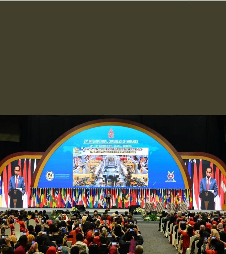 Pembukaan Kongres Notaris Internasional Ke-29 dihadiri Presiden Ir. H. Joko Widodo