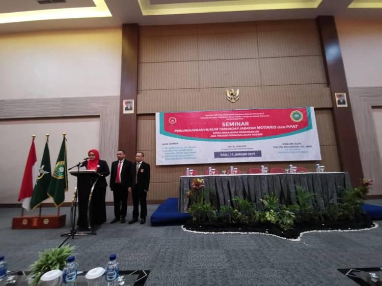 Seminar Perlindungan Hukum Terhadap Jabatan Notaris dan PPAT