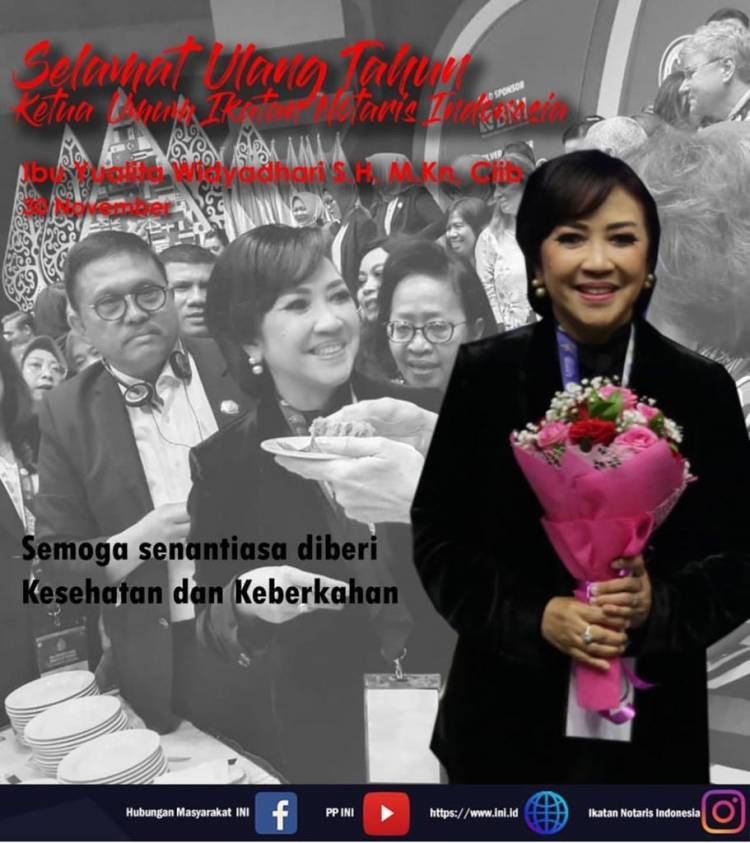 Selamat Ulang Tahun Ibu Yualita Widyadhari, SH., MKn