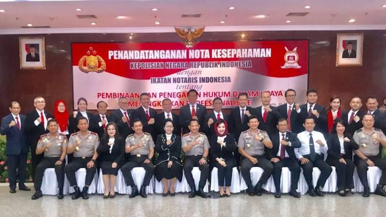 Polri Dan Ikatan Notaris Indonesia Perpanjang Mou Ikatan