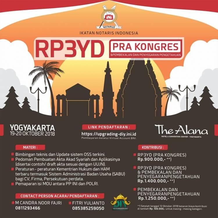 RAPAT PLENO PENGURUS PUSAT YANG DIPERLUAS (PRA KONGRES) SERTA PEMBEKALAN DAN PENYEGARAN PENGETAHUAN IKATAN NOTARIS INDONESIA