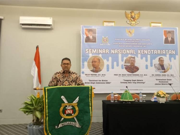 Seminar Nasional Kenotariatan Pengda Kendari dan Sekitarnya