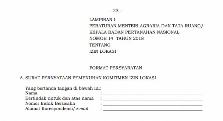 Lampiran Permen ATR/BPN 14/2018